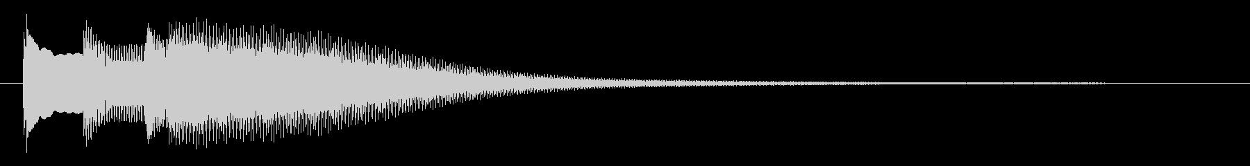 キラリ〜ン(キラキラとした高い音)の未再生の波形