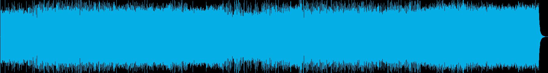 ポストロックのインストゥルメンタルの再生済みの波形