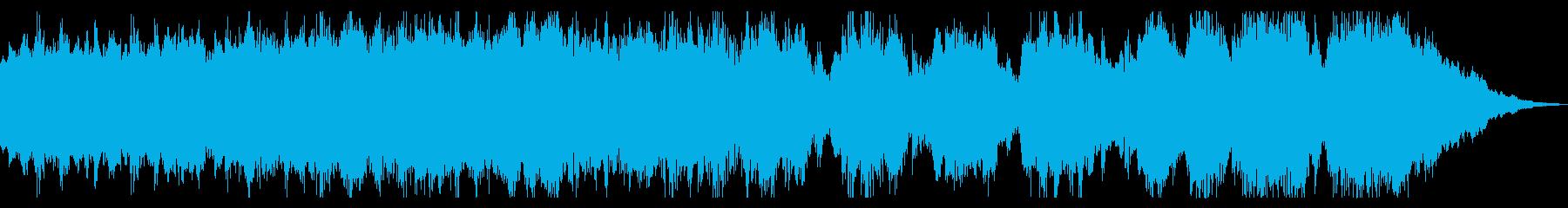 勇壮でダークな短いシンセBGMの再生済みの波形