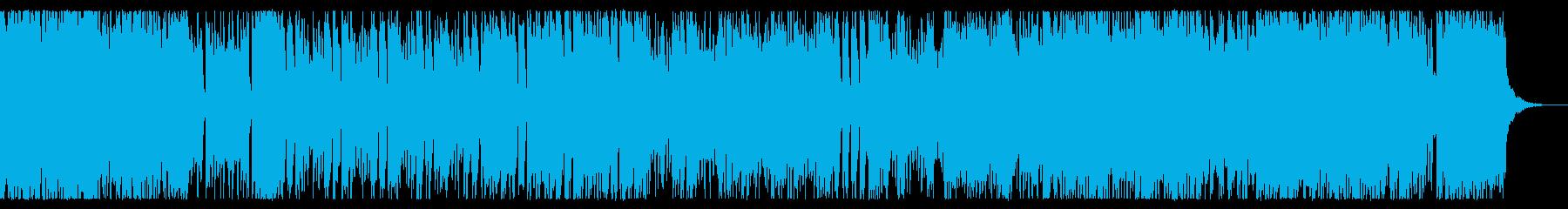 疾走感のあるクールなチップチューンの再生済みの波形