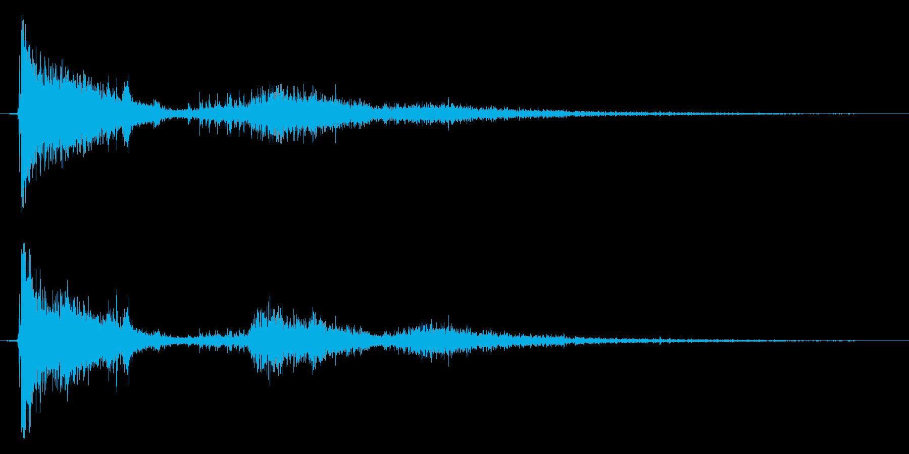 【銃声音015】銃の発砲音の再生済みの波形