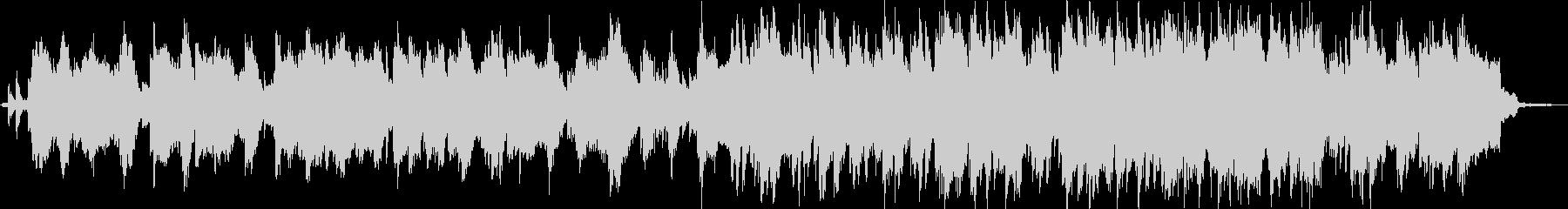鳥や虫の鳴き声と笛とシンセサイザーの音楽の未再生の波形