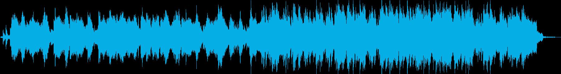 鳥や虫の鳴き声と笛とシンセサイザーの音楽の再生済みの波形