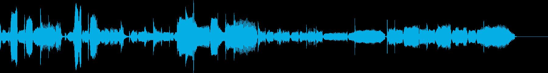 和風の和やかなbgmの再生済みの波形