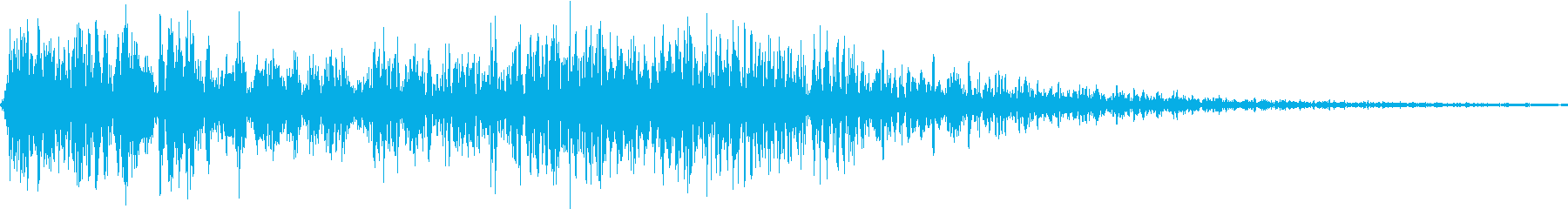 攻撃が当たる音 ブシュ!の再生済みの波形
