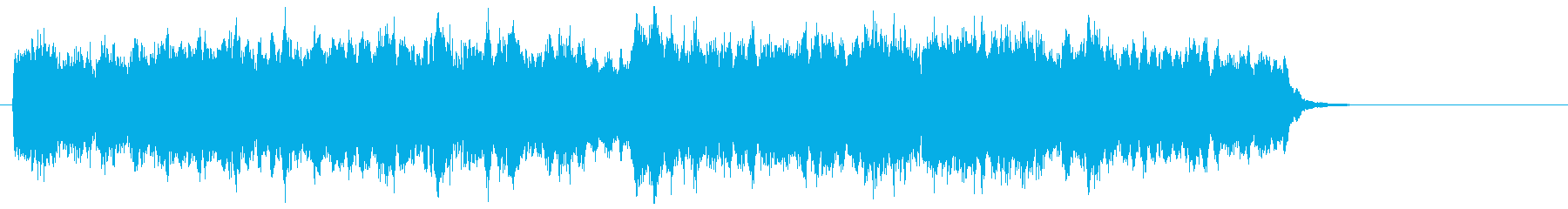 フルートとストリングスの優しいジングルの再生済みの波形