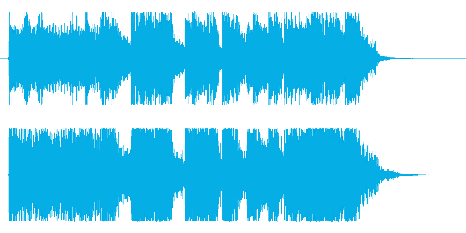 ど迫力!骨太ロックの重低音ロゴ!の再生済みの波形