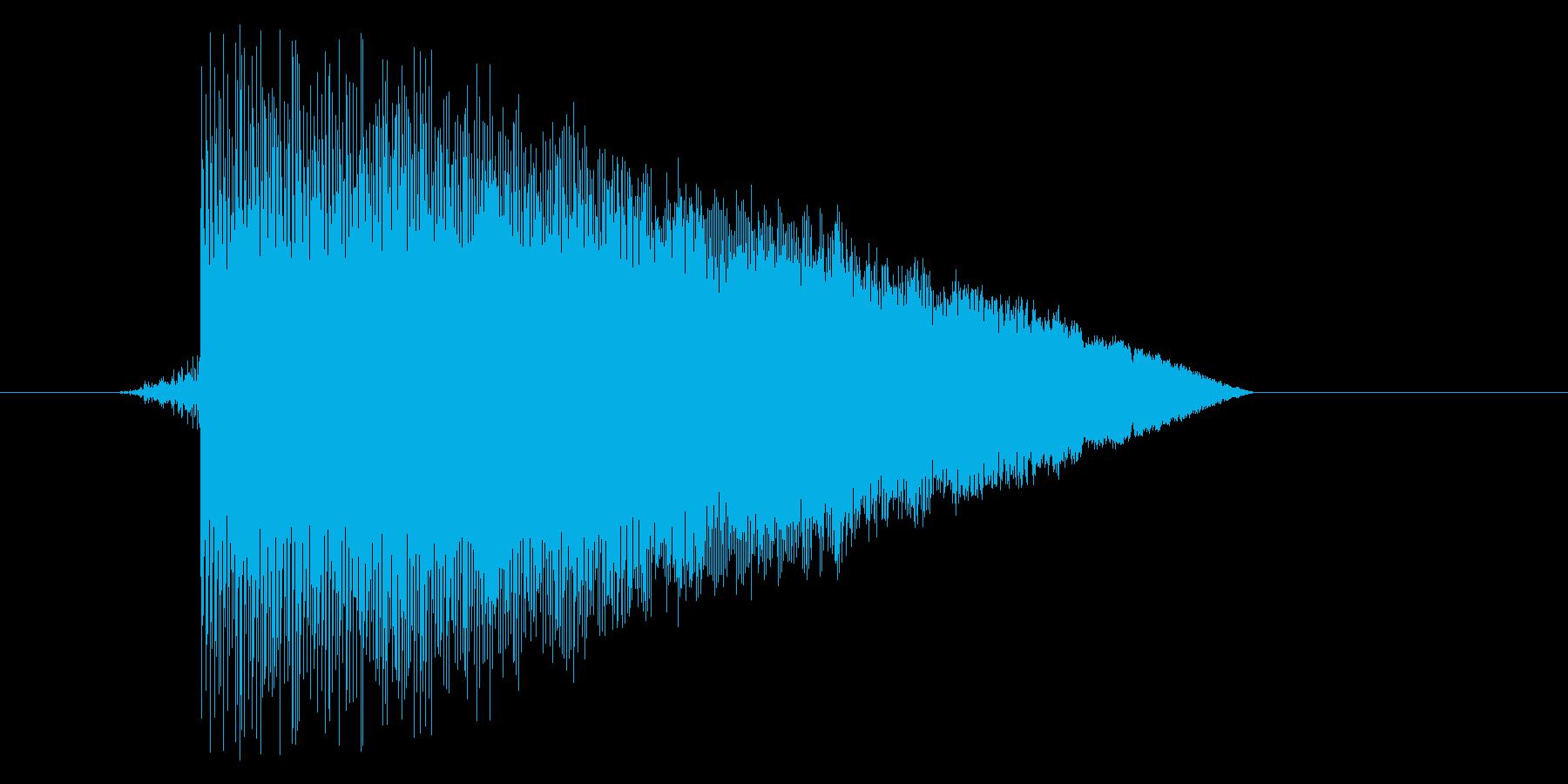 ゲーム(ファミコン風)ジャンプ音_031の再生済みの波形