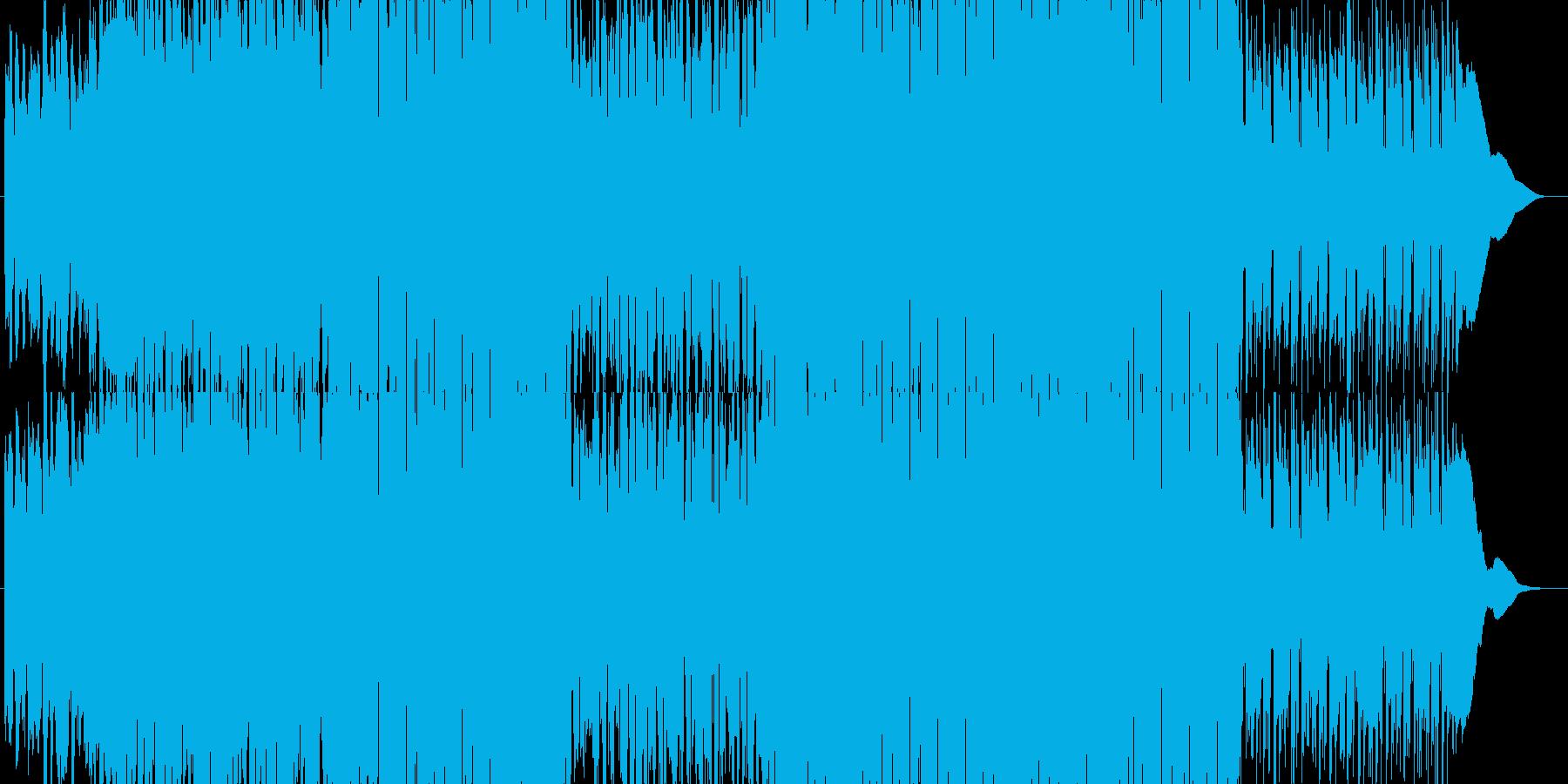 ギターカッティングを絡めたポップなハウスの再生済みの波形