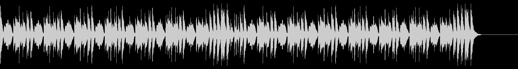ほのぼのとしたマリンバのリズミカルな音楽の未再生の波形