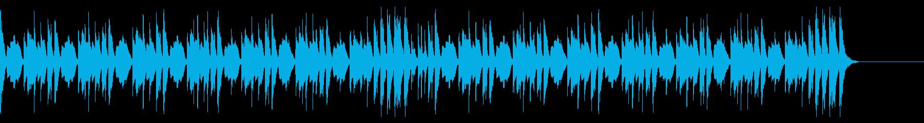 ほのぼのとしたマリンバのリズミカルな音楽の再生済みの波形