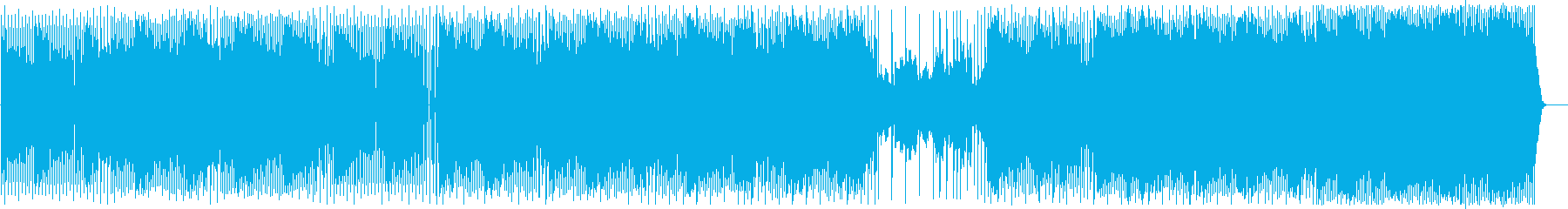 ファンキーで不思議な雰囲気のテクノの再生済みの波形