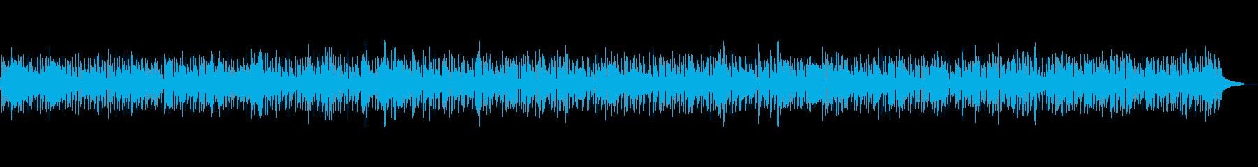動画のBGMに合うボサノバギターとピアノの再生済みの波形
