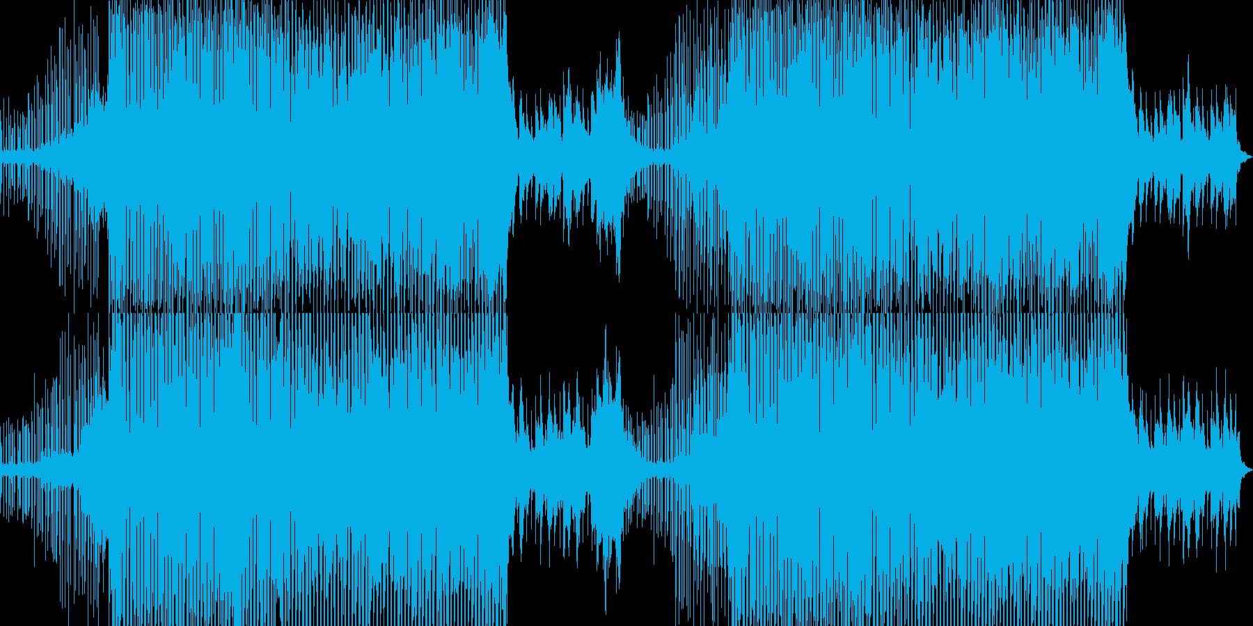 明るくファンキーなシンセポップスの再生済みの波形