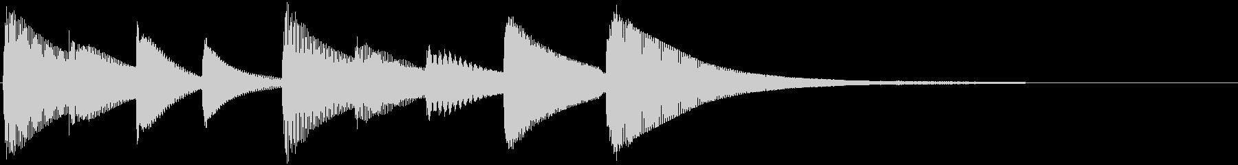 やや切ないジングル サウンドロゴの未再生の波形