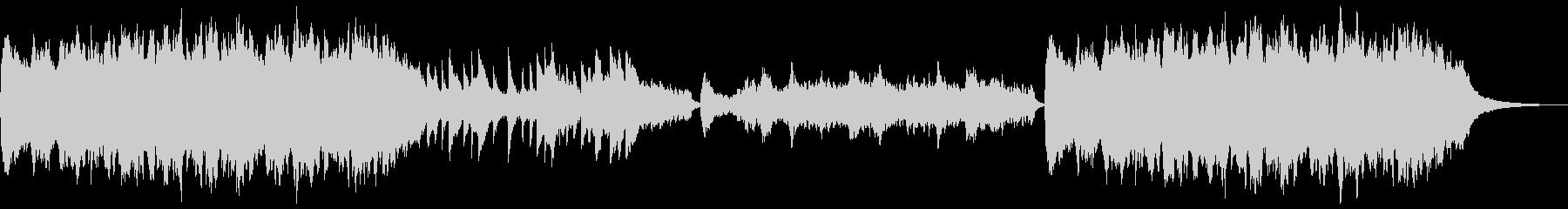 静かな雰囲気のBGMの未再生の波形