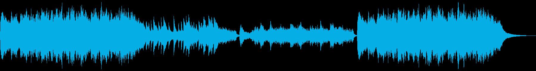 静かな雰囲気のBGMの再生済みの波形