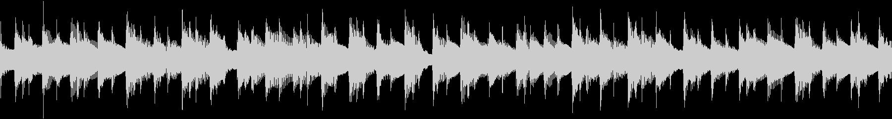 ナイロンアコギのみの陽気な伴奏のループ曲の未再生の波形