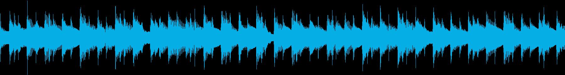 ナイロンアコギのみの陽気な伴奏のループ曲の再生済みの波形