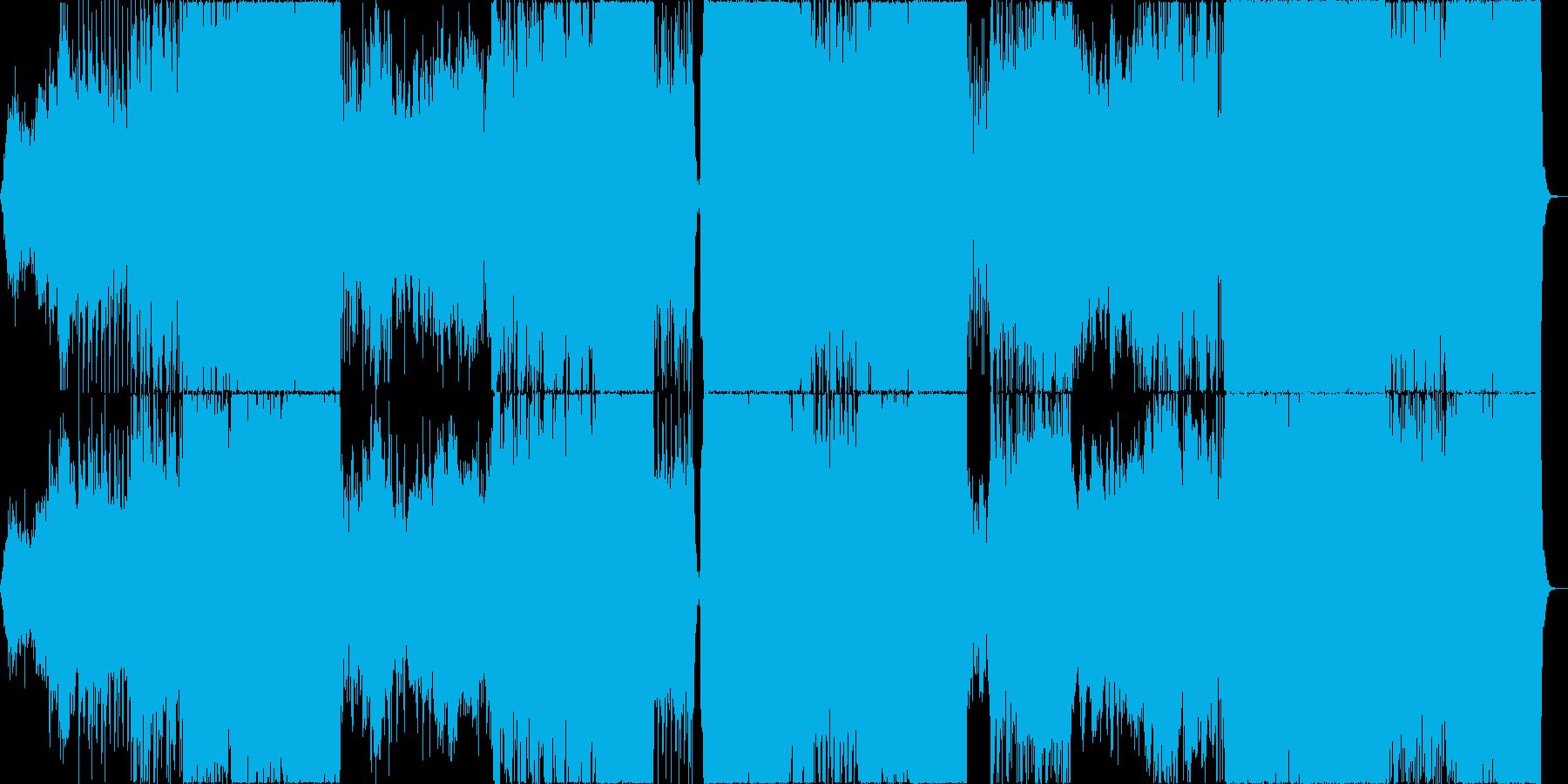 緊迫感と疾走感のあるオーケストラ曲の再生済みの波形