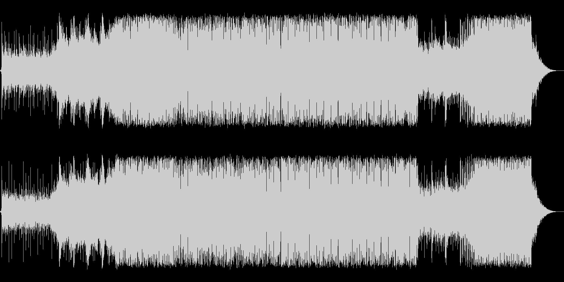 前向きな決意を感じるポップテクノ系BGMの未再生の波形