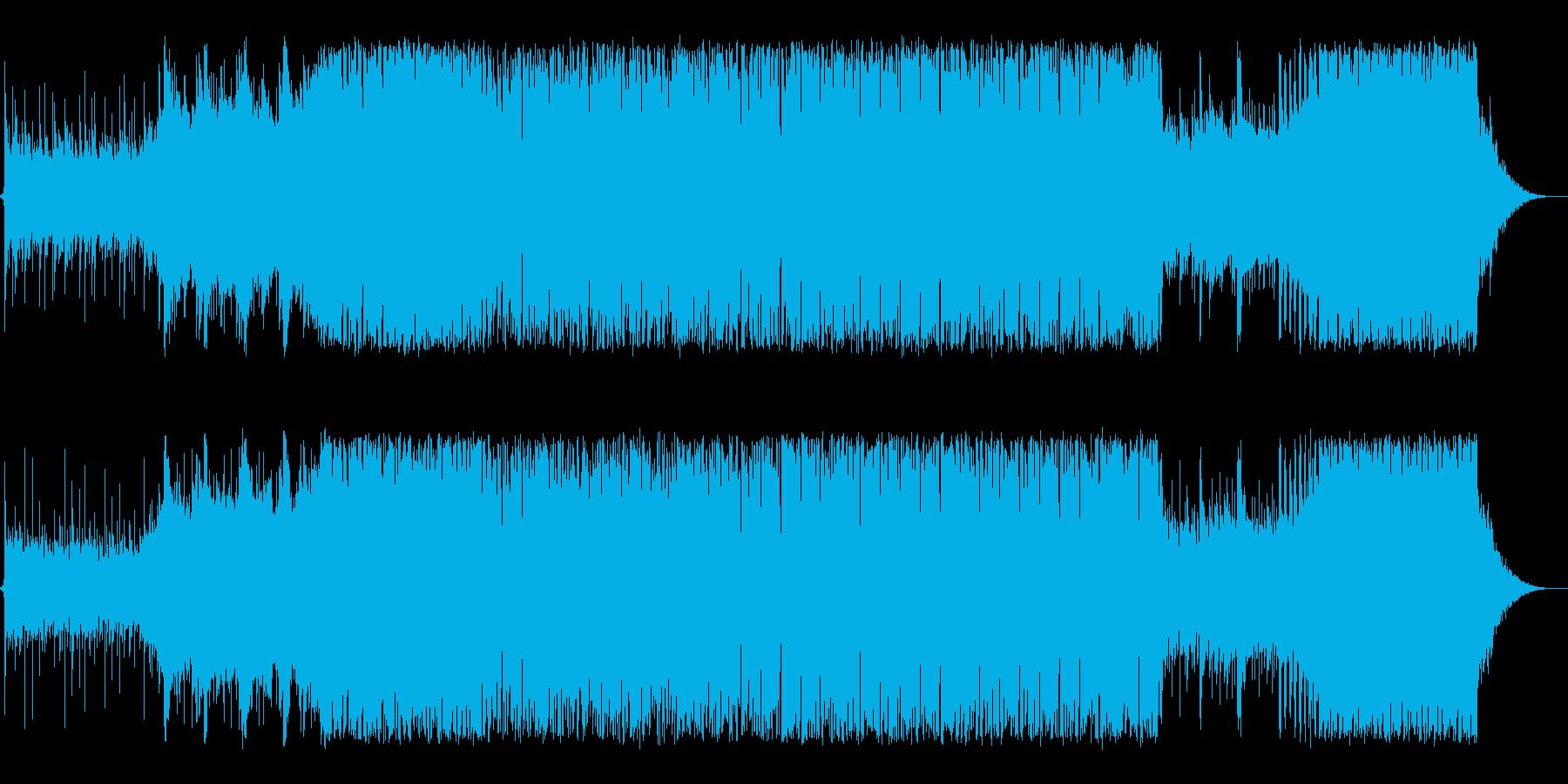 前向きな決意を感じるポップテクノ系BGMの再生済みの波形