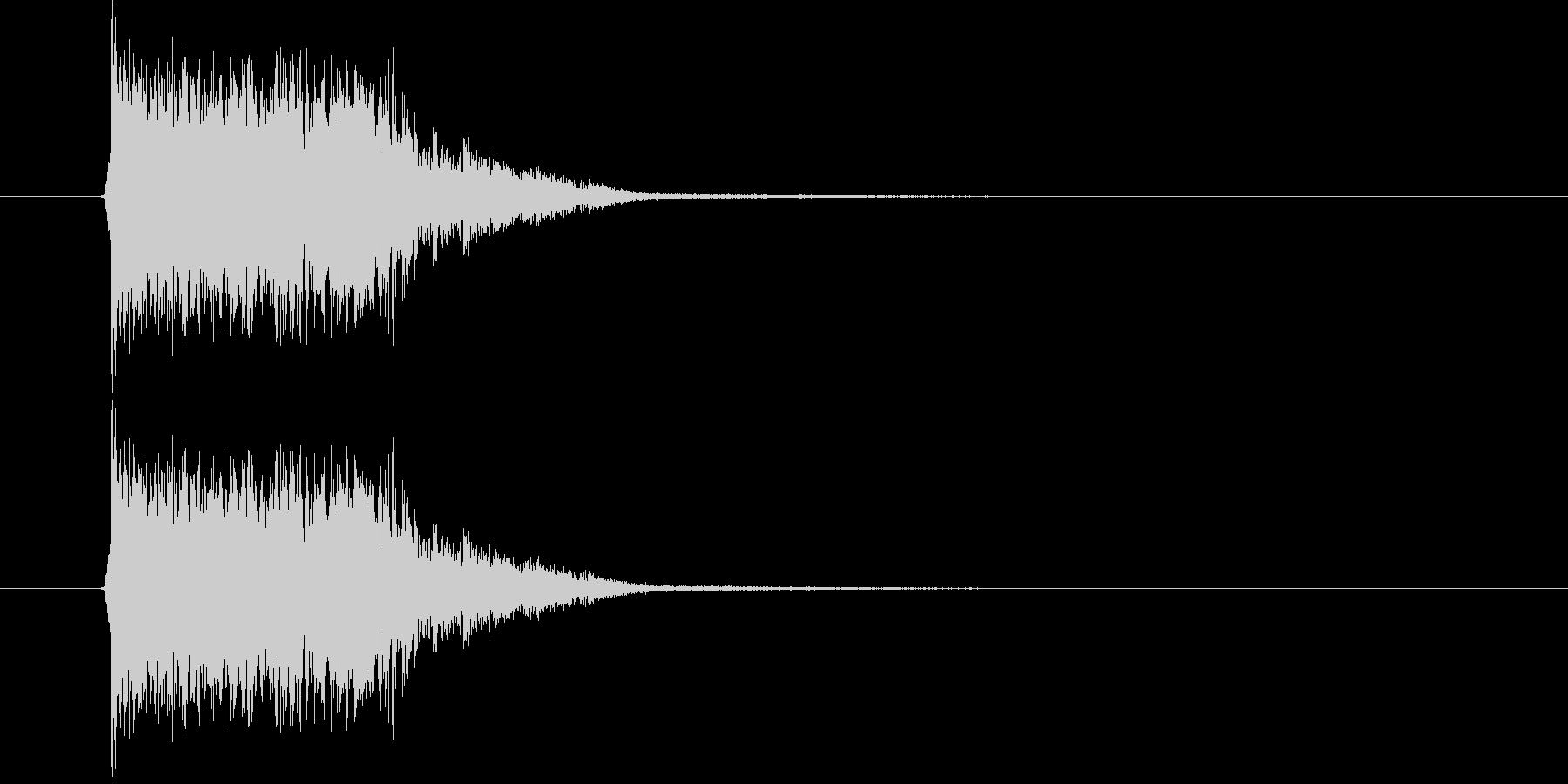ガシャーン(叫び声、クラッシュ)の未再生の波形