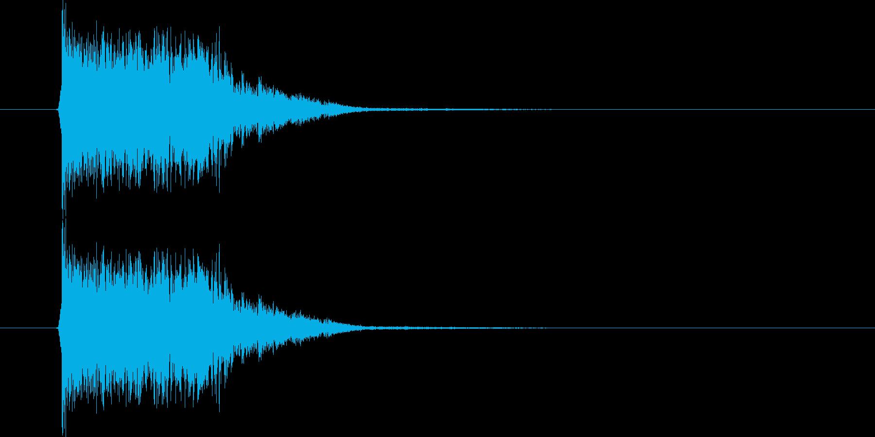 ガシャーン(叫び声、クラッシュ)の再生済みの波形