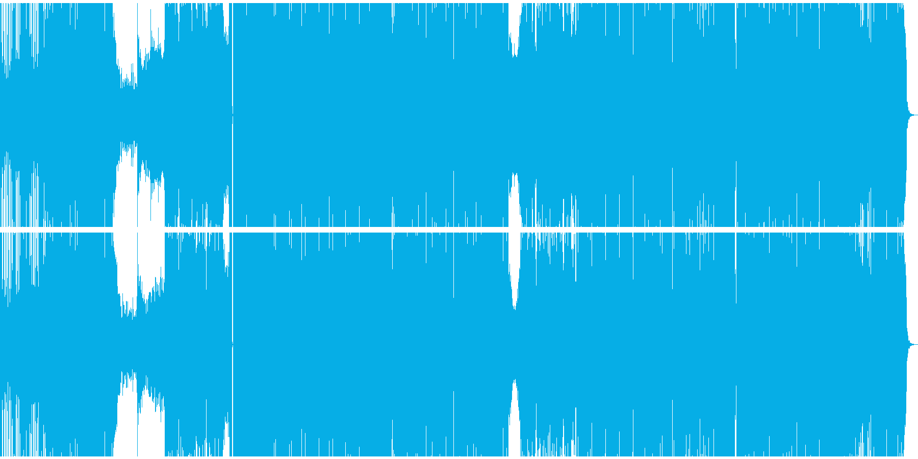 重低音と音圧がイケてるEDMの再生済みの波形