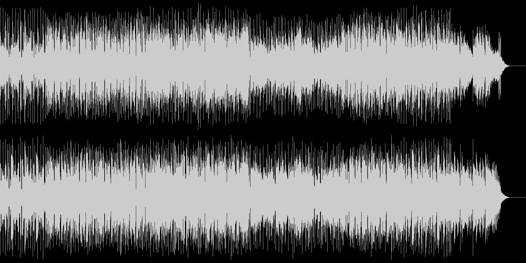 声のSEと爽やかなメロディが印象的な曲の未再生の波形