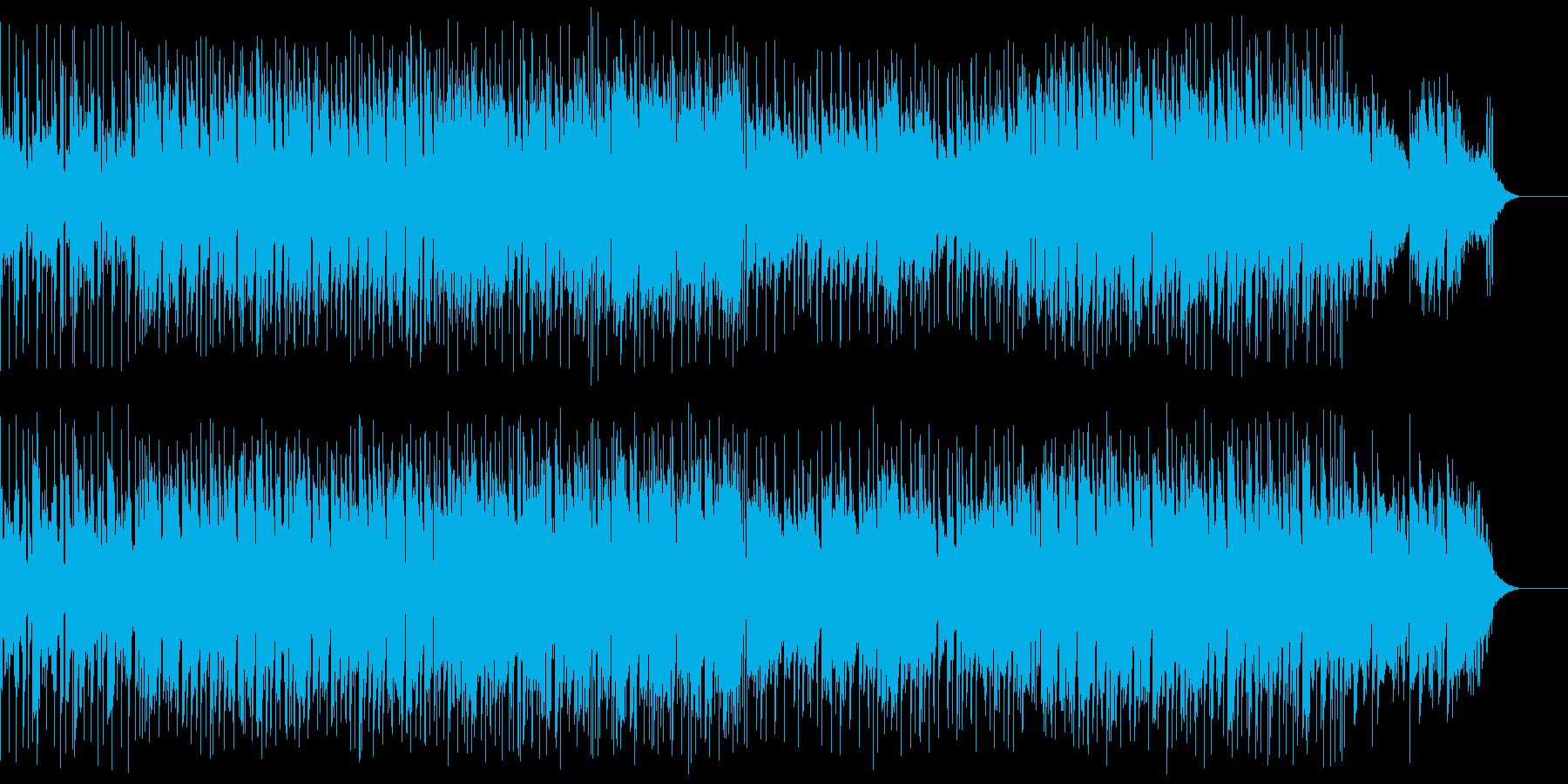 声のSEと爽やかなメロディが印象的な曲の再生済みの波形