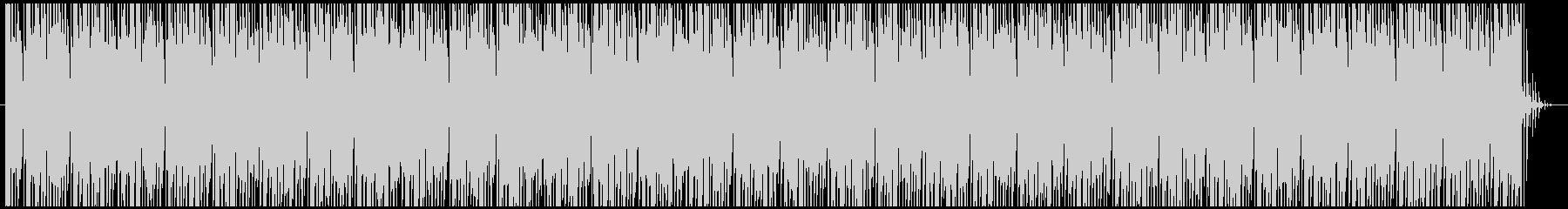 メニュー画面のようなデジタルなBGMの未再生の波形