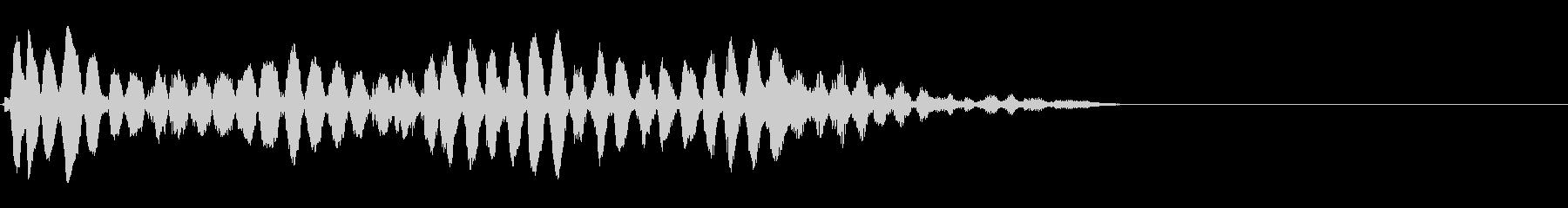 トーンシェイキーフォールwavの未再生の波形