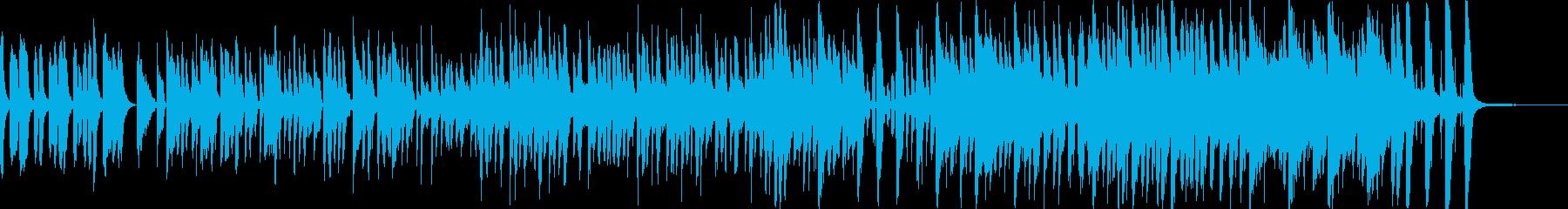 ポップでコミカルな日常曲の再生済みの波形