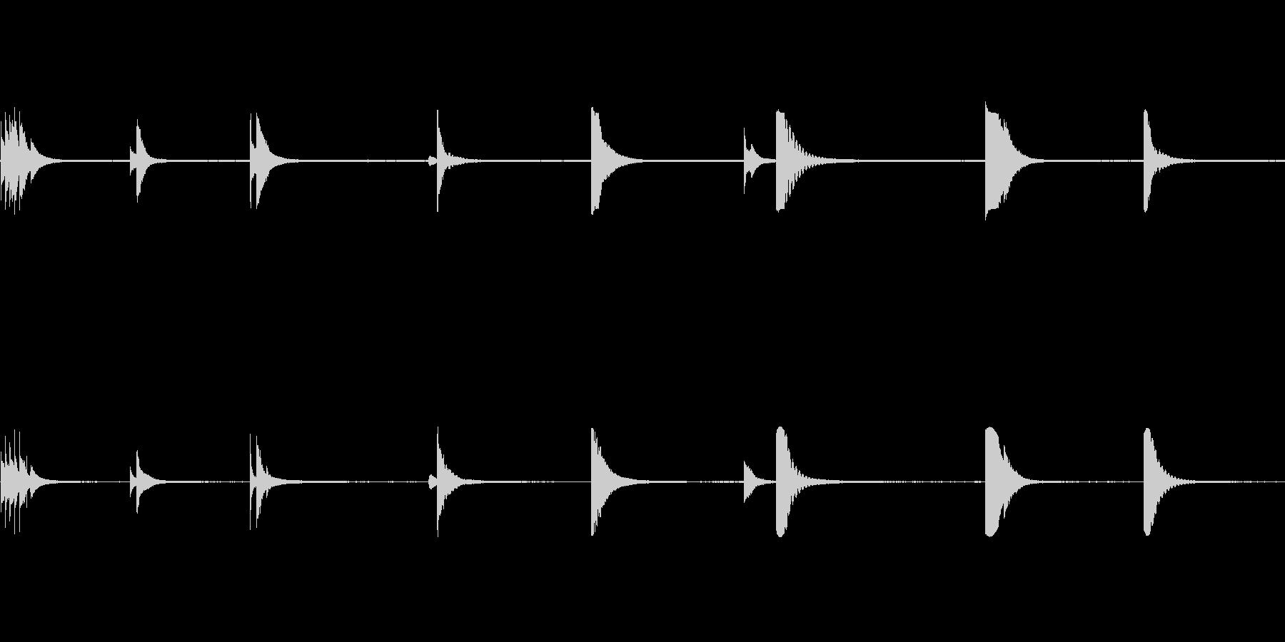 ベルテンプルリング複数の未再生の波形
