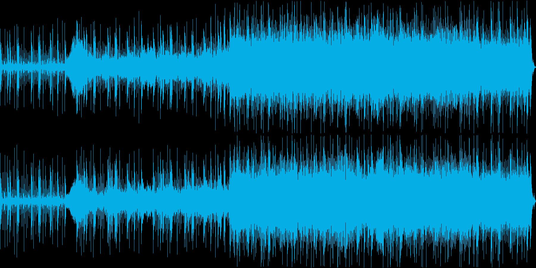 緊迫した雰囲気に使えるBGMの再生済みの波形
