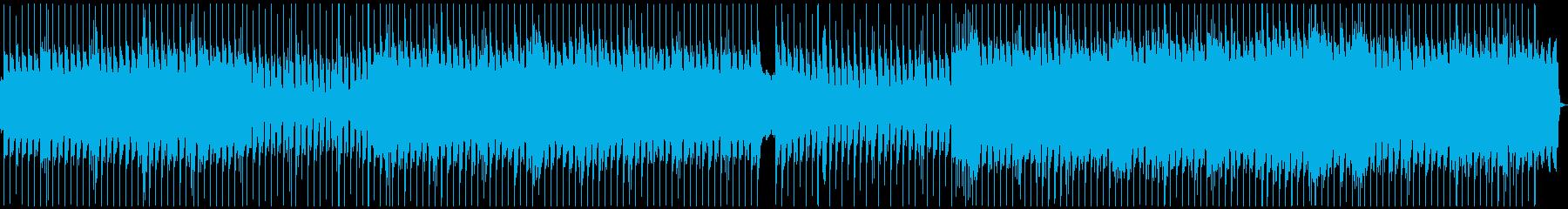 ヘビィなリズムと吠える歪んだギターロックの再生済みの波形