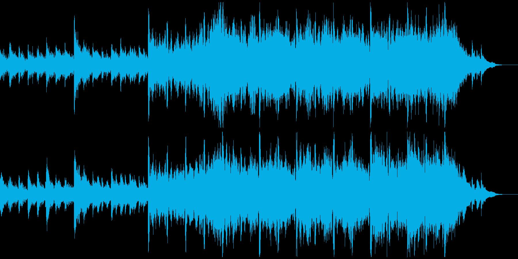 壮大でファンタジックなオーケストラ曲の再生済みの波形