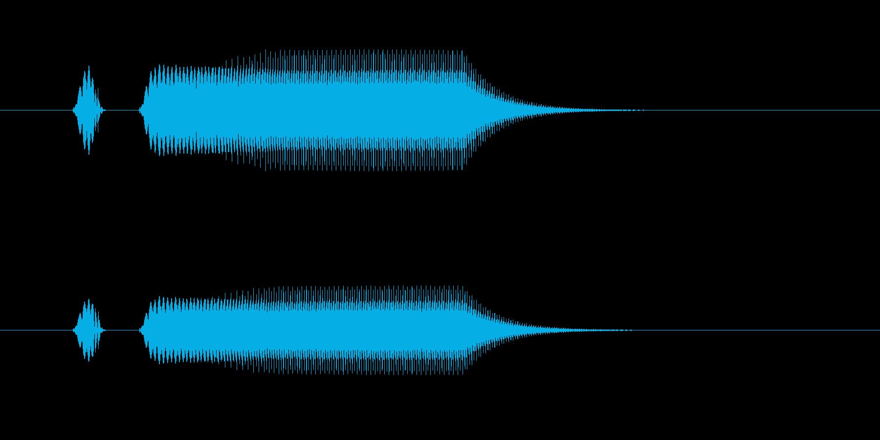 「プニ!ポヨン!」可愛い足音などに!06の再生済みの波形