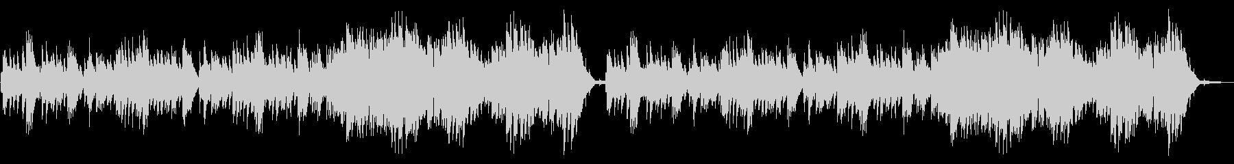 静か、単調なピアノソロの未再生の波形