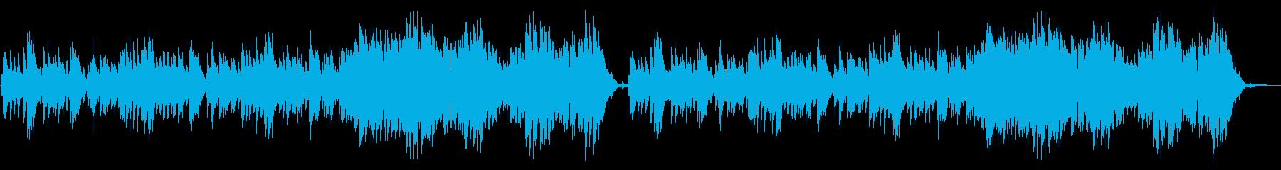 静か、単調なピアノソロの再生済みの波形