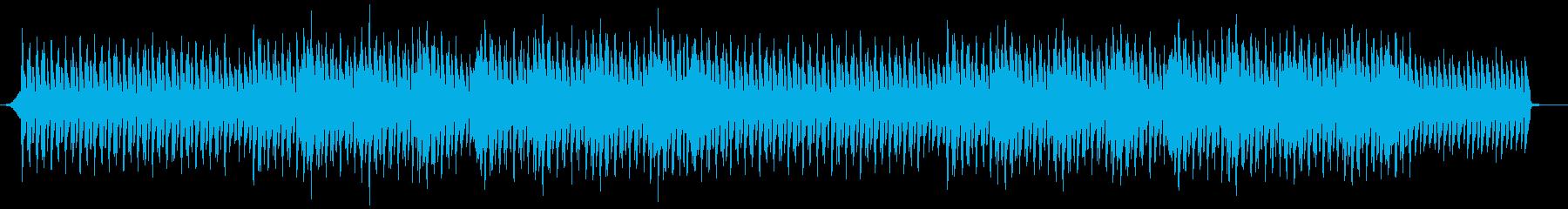 報道ニュース系の四つ打ちテクノの再生済みの波形
