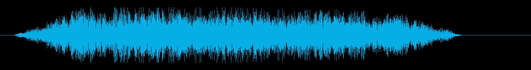 シューン(飛行物体の移動音)の再生済みの波形