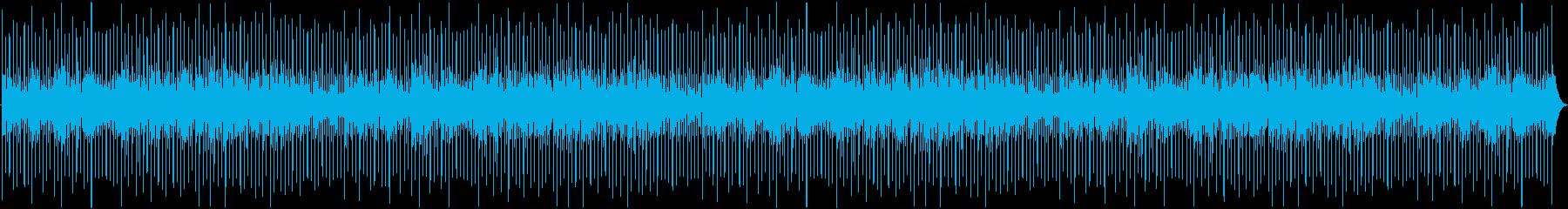 ドラムループとクールなピアノパーツ...の再生済みの波形