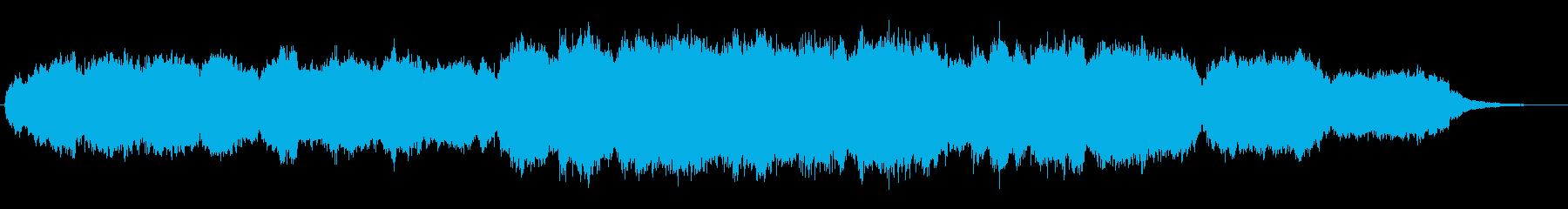 教会で頌栄で歌われる讃美歌パイプオルガンの再生済みの波形