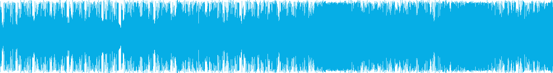 シンセサイザーによる近未来的なBGMですの再生済みの波形