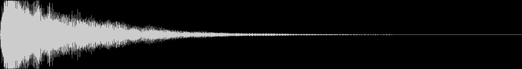 ラ単音のオーケストラルヒットの未再生の波形