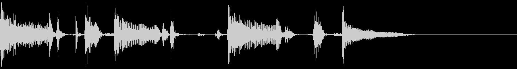 シンプルなロックギターフレーズの未再生の波形