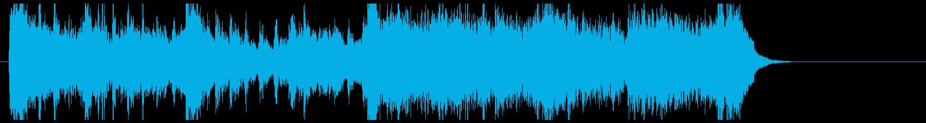 緩やかで悠長なサスペンス風ジングルの再生済みの波形