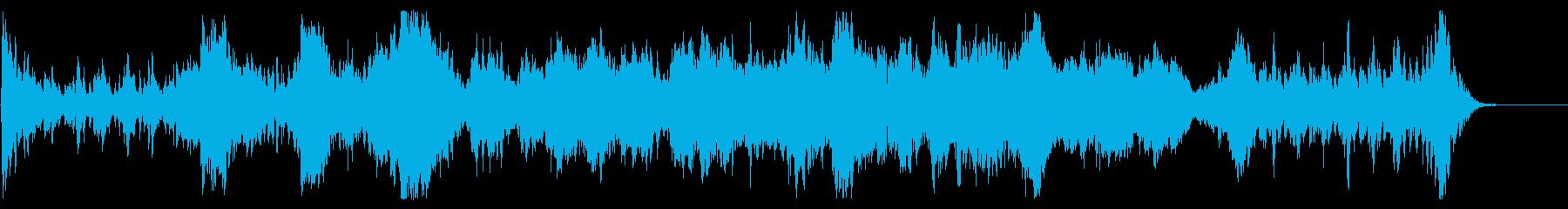 SFやファンタジーの予告動画向けの楽曲の再生済みの波形